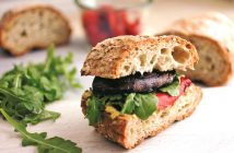Grilled Portobello Mushroom and Arugula Sandwich