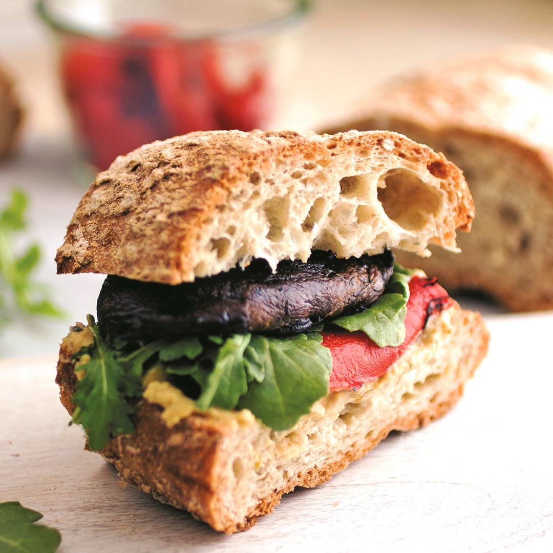 California Grilled Portobello Sandwich Recipe Plant Based