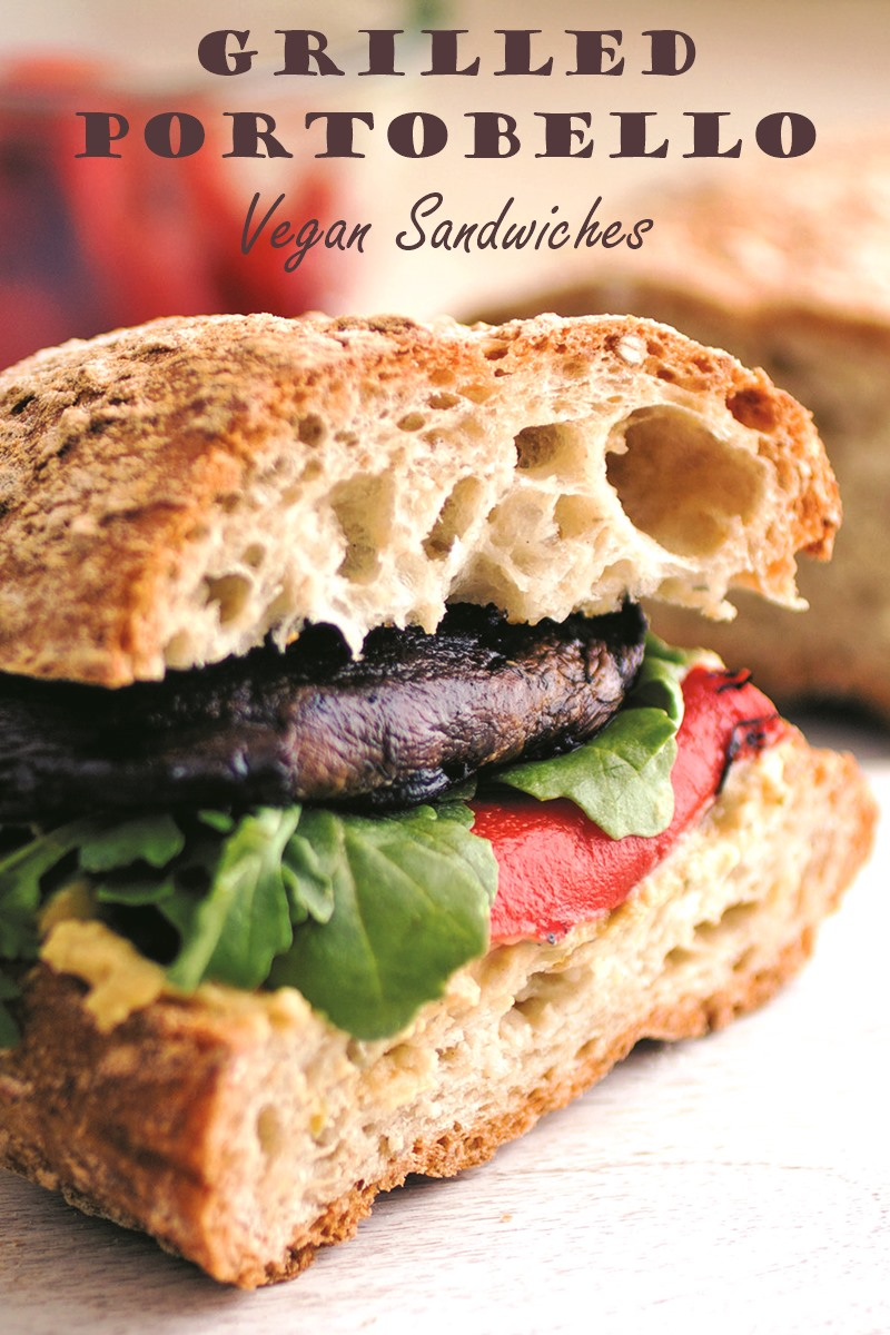 California Grilled Portobello Sandwich Recipe - plant-based, vegan, and layered with fresh flavors