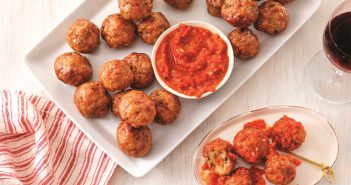 Stuffed Meatballs with Romesco Sauce Recipe (dairy-free, optionally gluten-free)