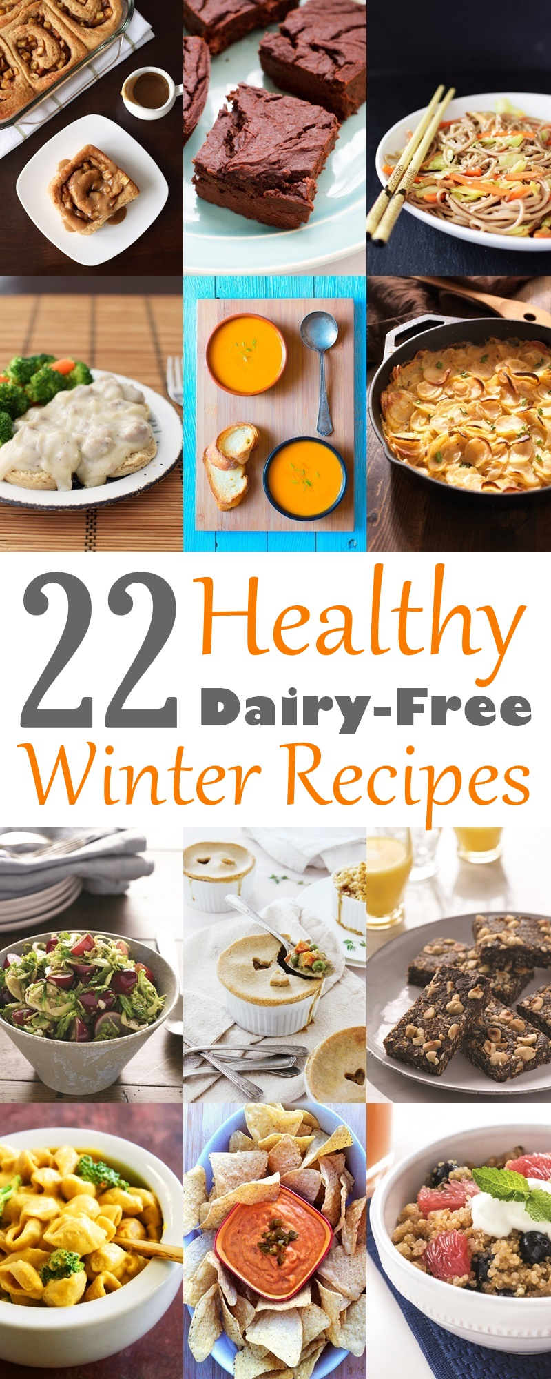 22 Healthy Winter Recipes - warm, hearty, nutritious and all dairy-free