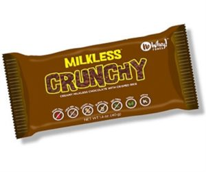 "No Whey Milkless Chocolate Bars Reviews and Info. Dairy-free, Vegan, Top Allergen-Fee Dark Semisweet, ""Milk,"" Crunch, and White Chocolate Varieties"