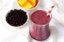 Wild Blueberry Orange Creamsicle Smoothie Recipe (just 4 ingredients!) - healthy, vegan, paleo