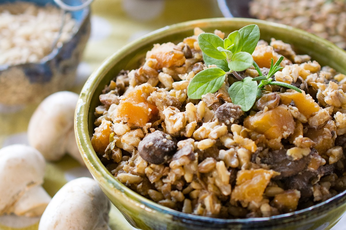 Winter One-Pot Lentils and Rice (Pressure Cooker / Instant Pot, Gluten-free, Vegan Recipe)