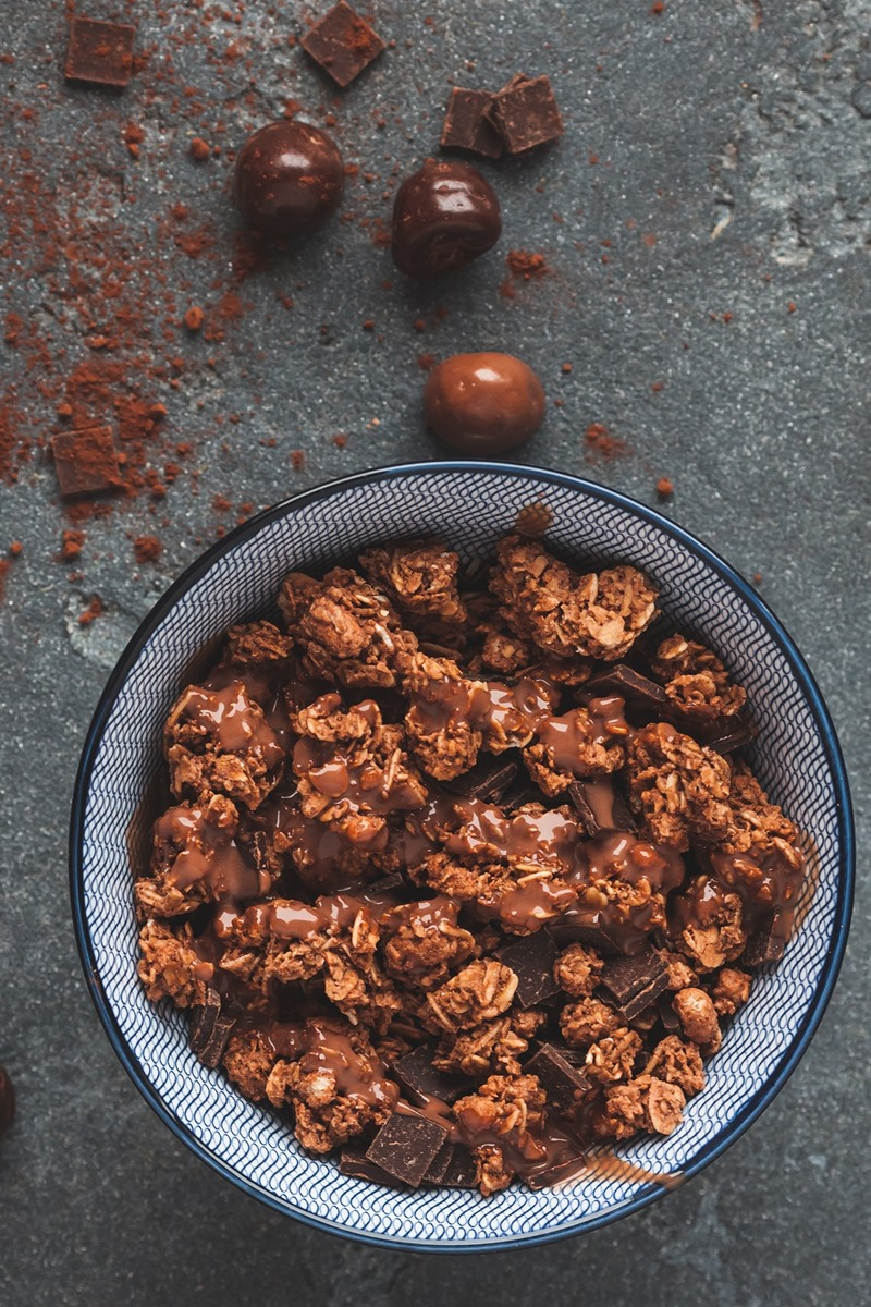 Chocolate for Breakfast - Dairy-Free Chocolate Granola