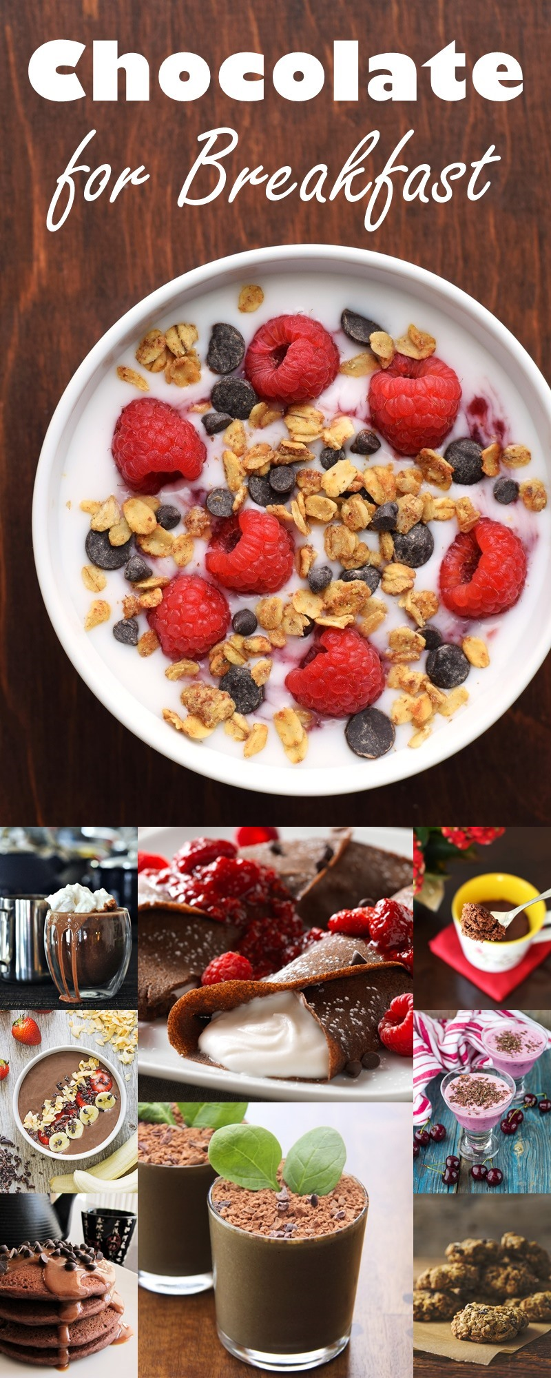 22 Chocolate Breakfast Recipes - delicious dairy-free, vegan ways to love chocolate for breakfast!