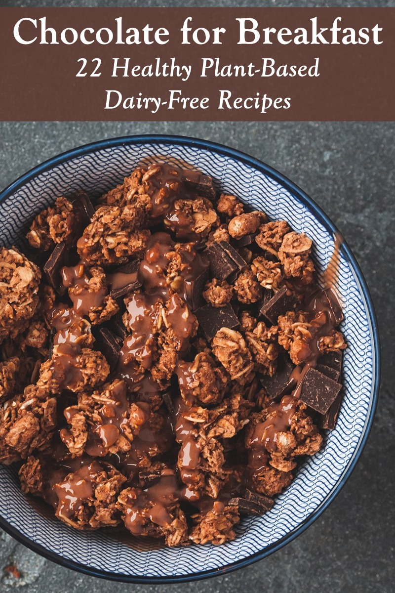 22 Dairy-Free Chocolate Breakfast Recipes - healthy, plant-based