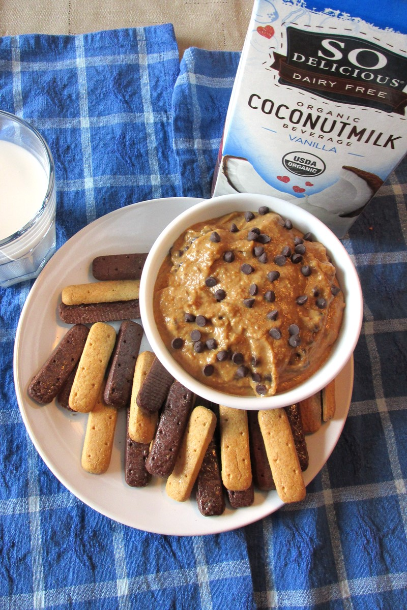 Chocolate Chip Cookie Dough Dip Recipe - dairy-free, gluten-free, healthy snack or treat