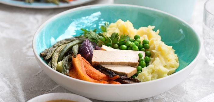 Healthy Mashed Potato Bowls with Creamy Cashew Gravy