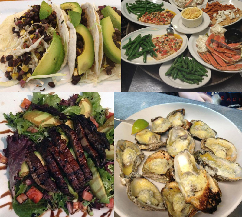 Ballyhoo's Historic Seafood Grille in Key Largo offers many dairy-free options plus a fully vegetarian and vegan menu!