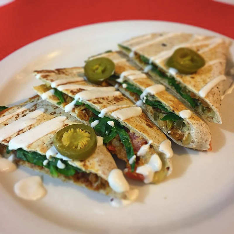 Counter Culture in Austin, TX serves wholesome vegetarian and vegan fare with a family-friendly environment