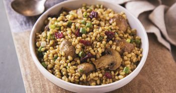 Roasted Mushroom and Wheat Berry Salad with Orange Curry Vinaigrette