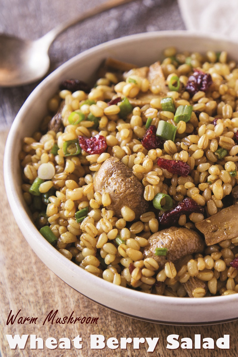 Wheat Berry Salad Recipe with Orange-Curry Vinaigrette