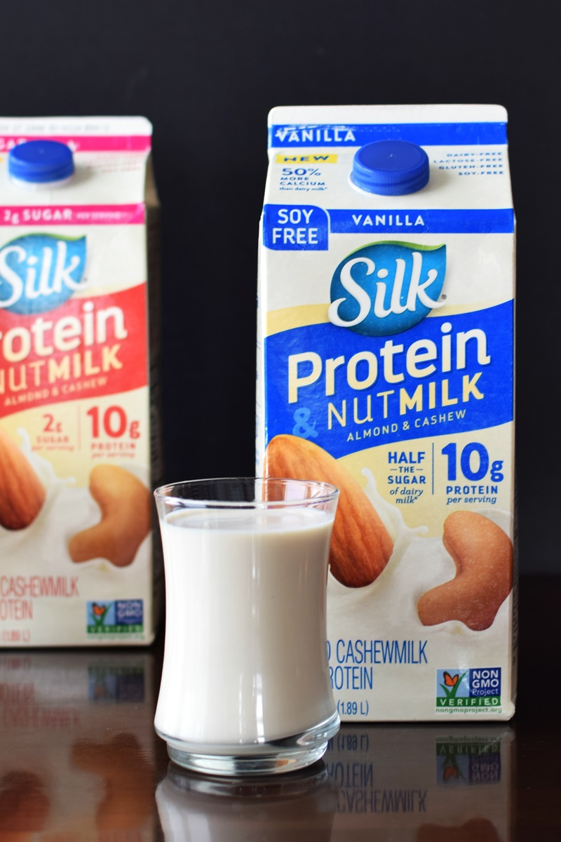 Silk Protein and Nut Milk Review (dairy-free, plant-based milk alternative with 10 grams of protein per serving!)