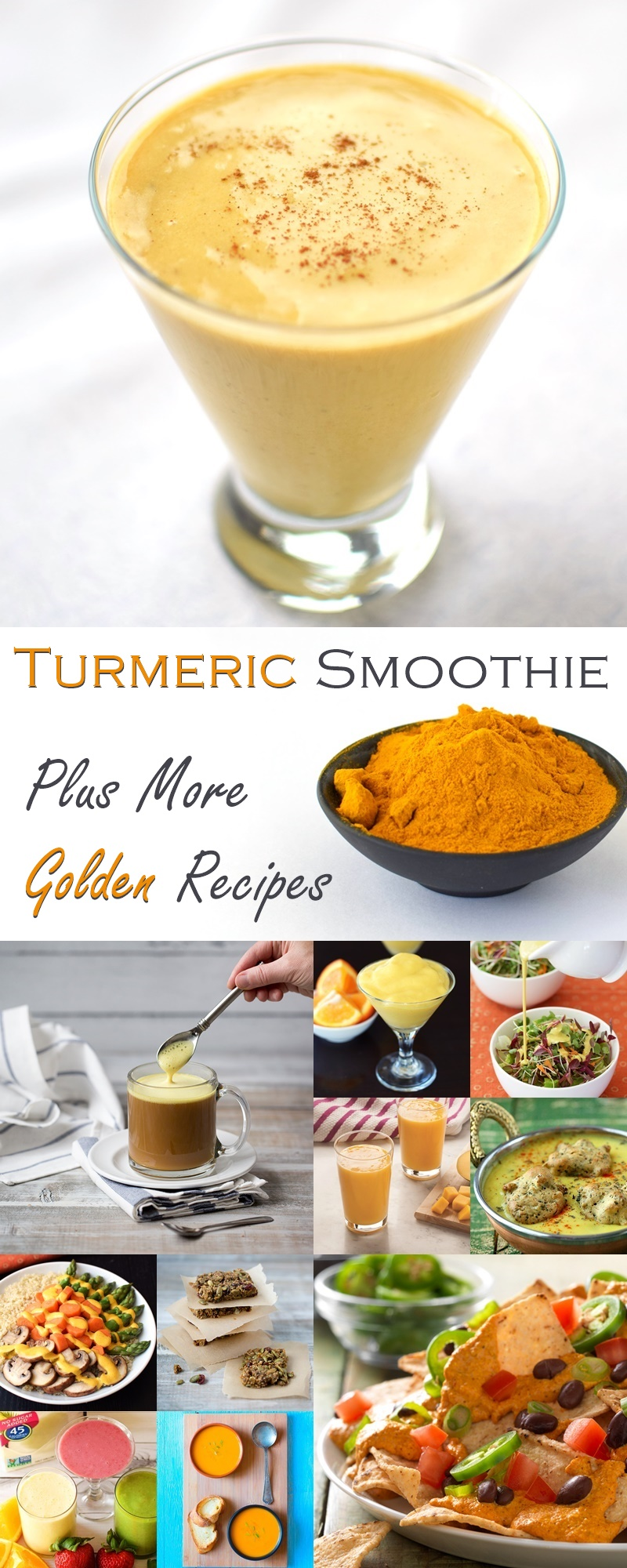 Everyday Turmeric Smoothie Recipe + 10 More Dairy-Free, Plant-Based Golden Recipes