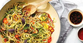 Rainbow Lo Mein Recipe (dairy-free, gluten-free, vegan) from No Excuses Detox