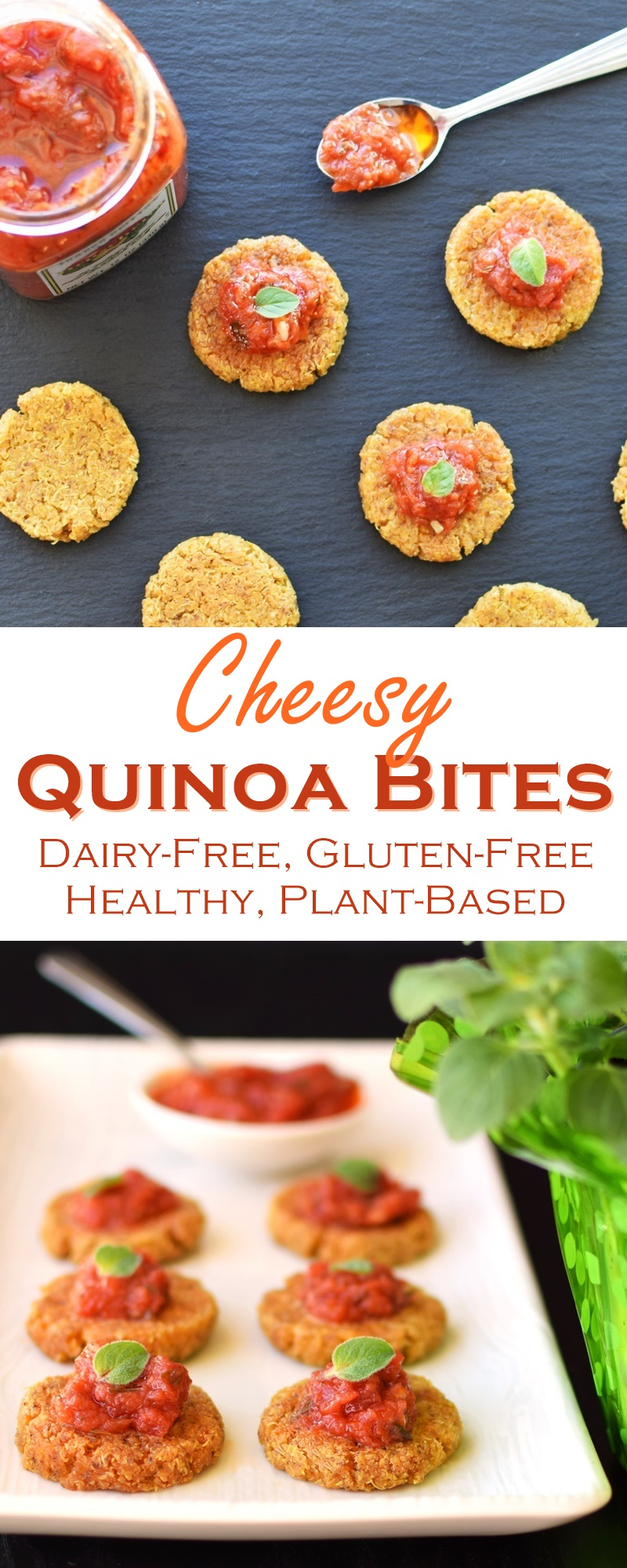 Cheesy Dairy-Free Quinoa Bites - plant-based, gluten-free, delicious, versatile, no fillers, and healthy!