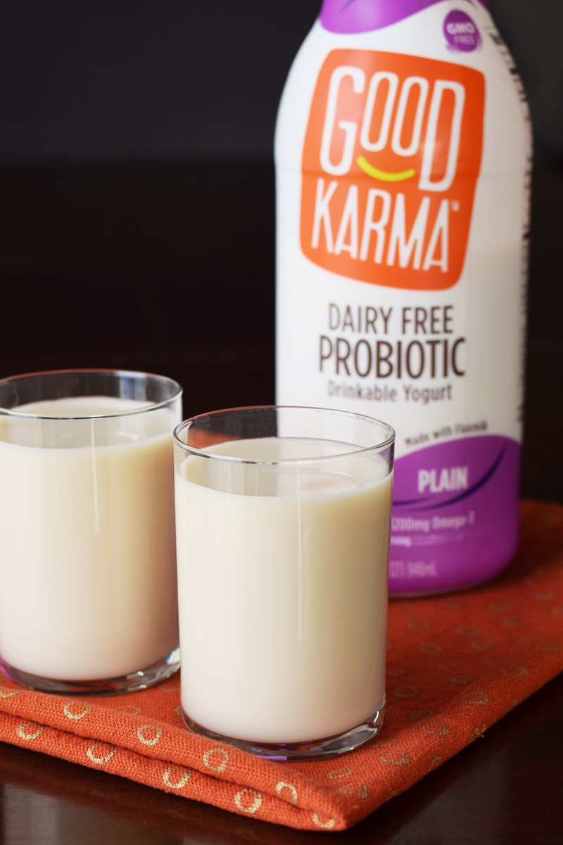 Good Karma Dairy Free Probiotic Drinkable Yogurt - 4 top allergen-free, plant-based, gluten-free flavors
