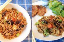 Crockpot Peking Pork Chops with Vegetable Lo Mein & Easy Teriyaki Salad (Dairy-free Recipes with Gluten-free, Nut-free & Meatless Options!)
