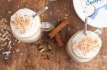 Coconut Chai Smoothie Recipe (dairy-free!) by Brianna of Flippin Delicious