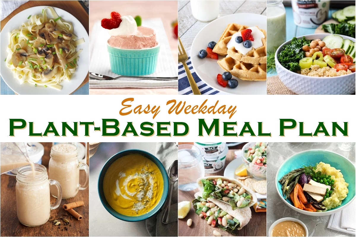 Easy Weekday Plant-Based Meal Plan + Printable Shopping List!