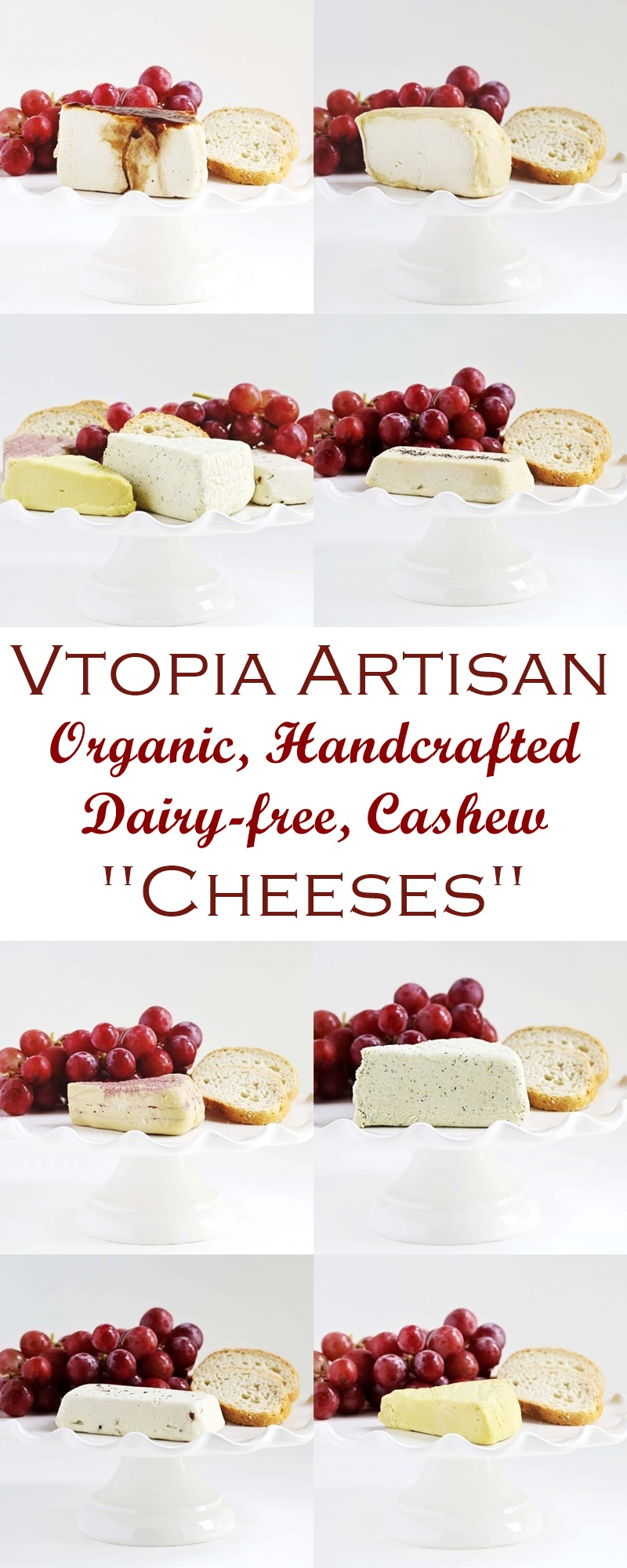 Vtopian Artisan Cheeses - Dairy-free, Vegan, Cashew-Based, Cultured Hard and Soft Cheeses (Informational Review)