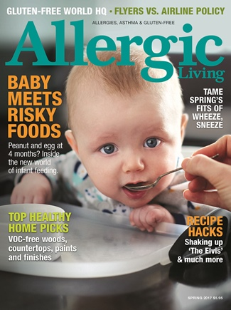 Allergic Living Spring 2017 Issue - Includes fabulous top allergen-free homemade bakeshop recipes!