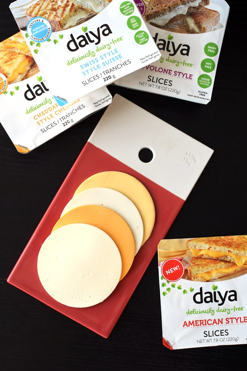 Daiya Deliciously Dairy Free Slices in Four Cheesy Flavors