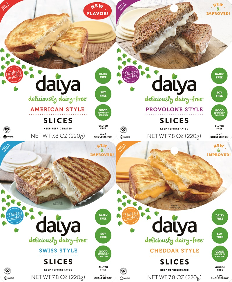 Daiya Deliciously Dairy-Free Cheese Slices - Improved Formula + New American Flavor