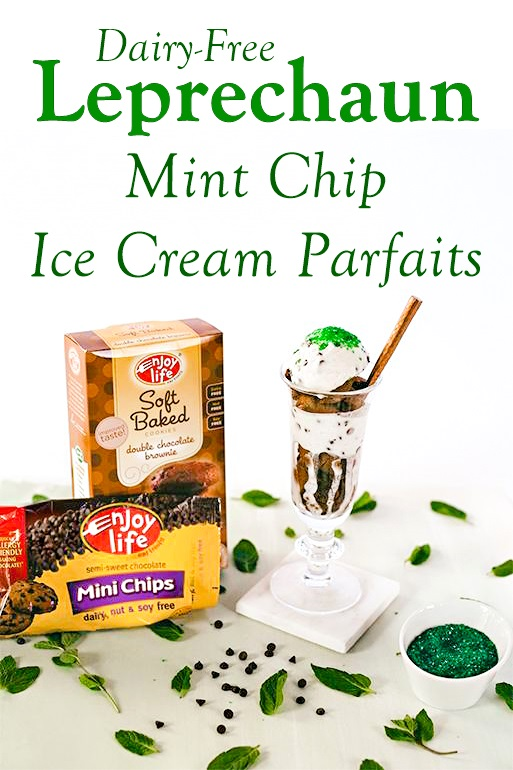 Leprechaun Mint Chip Ice Cream Parfaits Recipe (vegan, gluten-free and allergy-friendly)