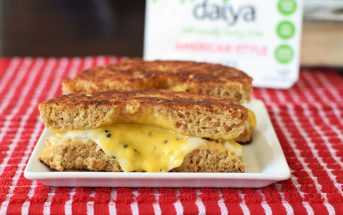 Inside Out Everything Grilled Cheese Bagel - easy dairy-free and vegan recipe!