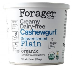 Forager Project Creamy Dairy-free Cashewgurt (Review) - vegan, soy-free, cashew-based yogurt in unsweetened + four flavors
