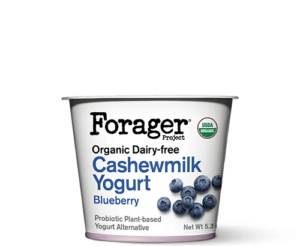 Forager Project Cashewgurt / Cashewmilk Yogurt Reviews and Information. We have ingredients, ratings, and more for this natural, vegan, soy-free yogurt line. Pictured: Blueberry
