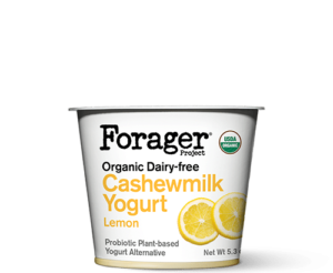 Forager Project Cashewgurt / Cashewmilk Yogurt Reviews and Information. We have ingredients, ratings, and more for this natural, vegan, soy-free yogurt line. Pictured: Lemon