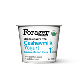 Forager Project Cashewgurt / Cashewmilk Yogurt Reviews and Information. We have ingredients, ratings, and more for this natural, vegan, soy-free yogurt line. Pictured: Unsweetened Plain