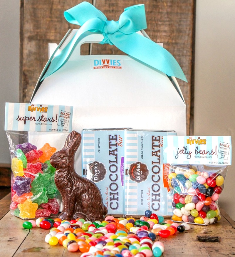 Dairy-Free Chocolate Easter Bunny Round-Up - Divvies Chocolates Pictured