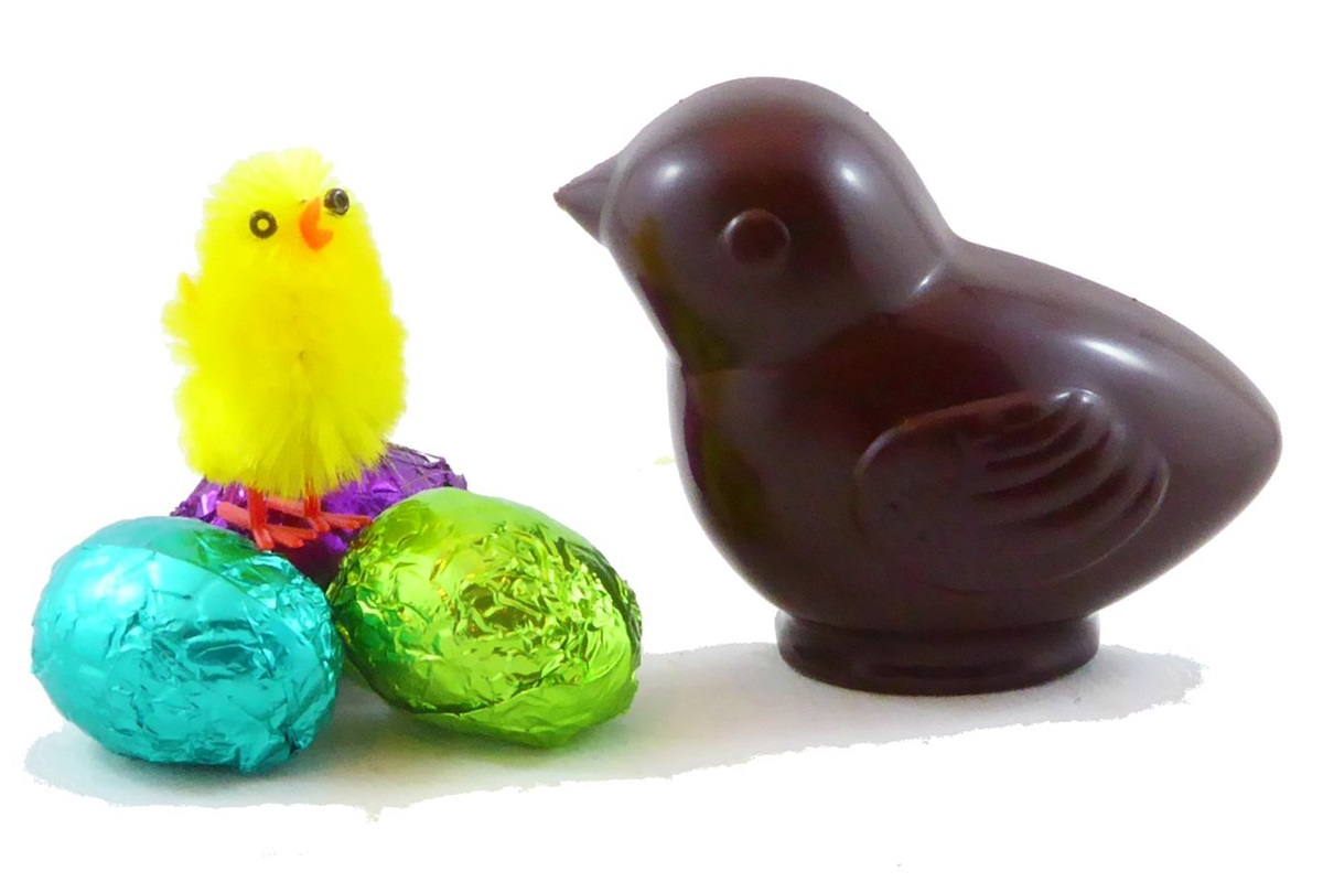 Dairy-Free Chocolate Easter Bunny Round-Up - Pure Lovin Organic Chocolate Creme-Filled Chicks Pictured