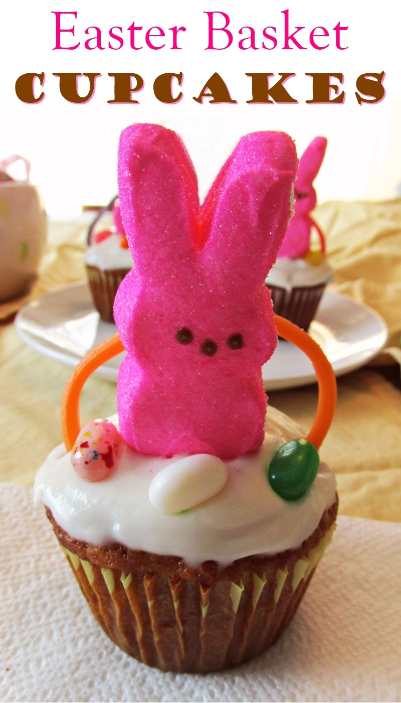 Easter Basket Cupcakes - A Fun & Easy DIY Project!
