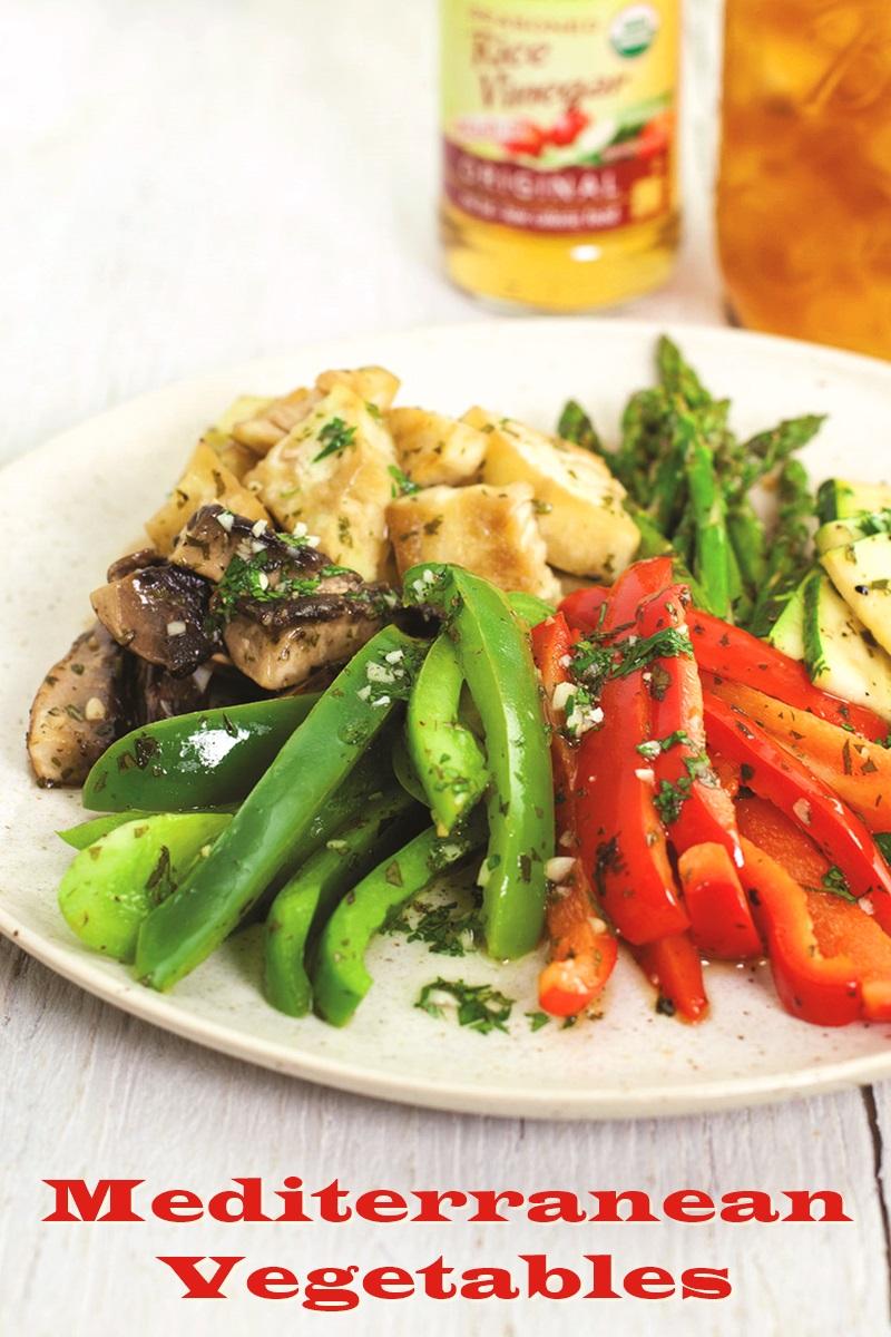 Mediterranean Vegetables Recipe - grilled or roasted; dairy-free, gluten-free and vegan
