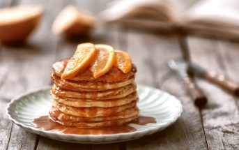 Orange Spice Vegan Pancakes (also nut-free, soy-free - recipe by Susan of Fat Free Vegan)