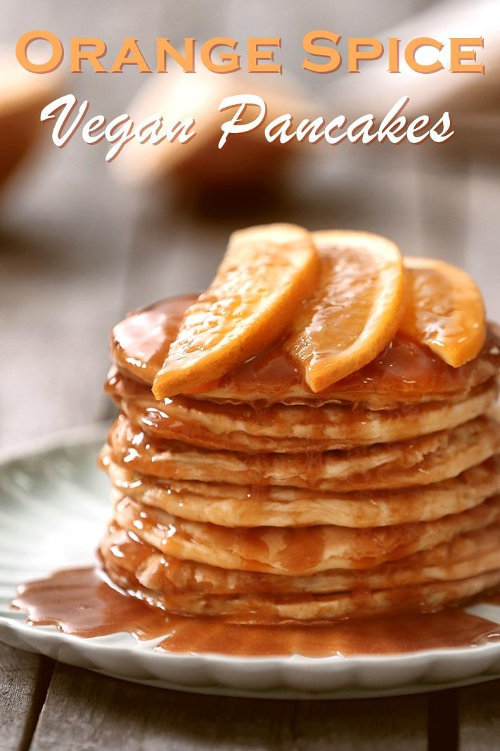 Orange Spice Vegan Pancakes (also nut-free, soy-free - recipe by Susan of Fat Free Vegan)
