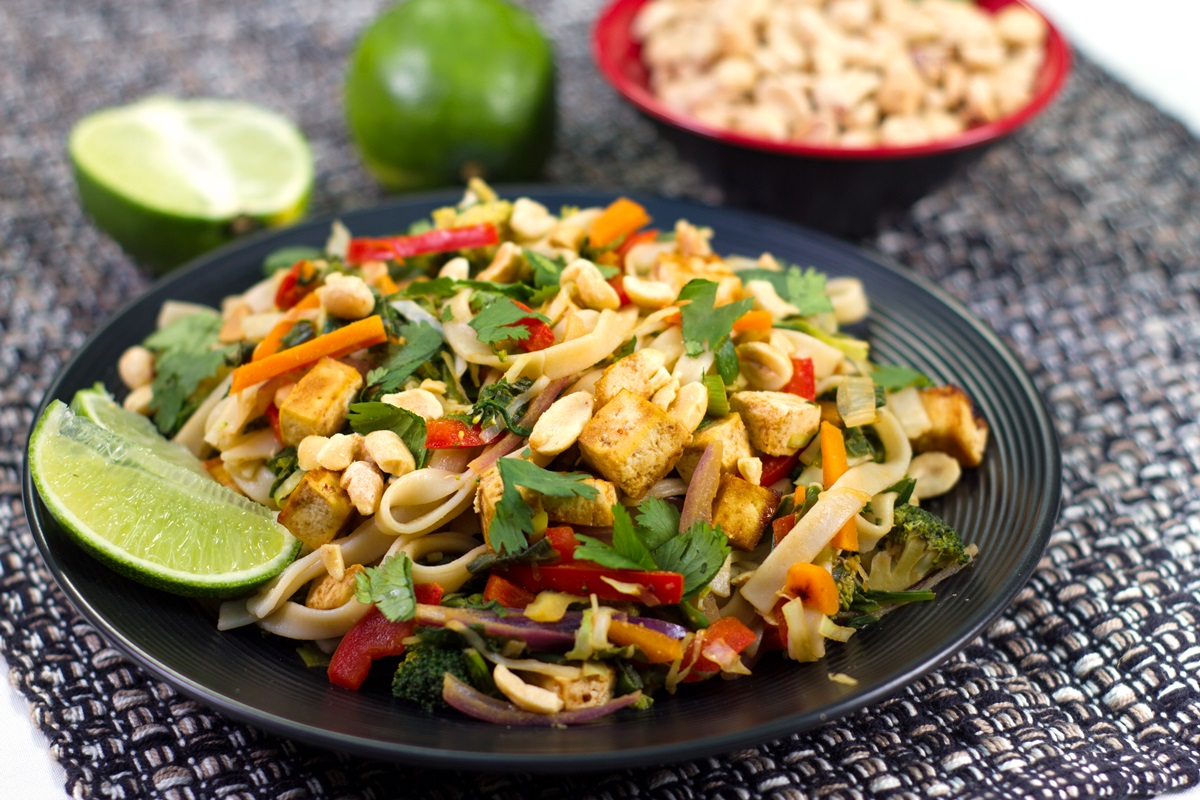 Thai Kitchen Pad Thai vegan pad thai recipe from the plantpure kitchen