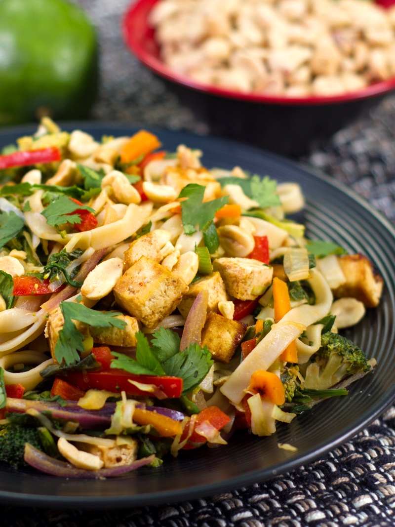 Vegan Pad Thai Recipe from The PlantPure Kitchen by Kim Campbell