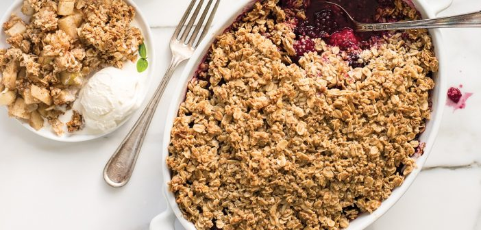 Seasonal Fruit Crisps: Blackberry-Sunflower + Apple-Almond