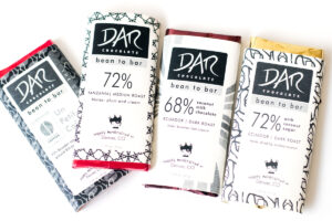 DAR Chocolate Bars are handcrafted in Denver and available in a variety of dairy-free, vegan varieties including coconut milk chocolate!