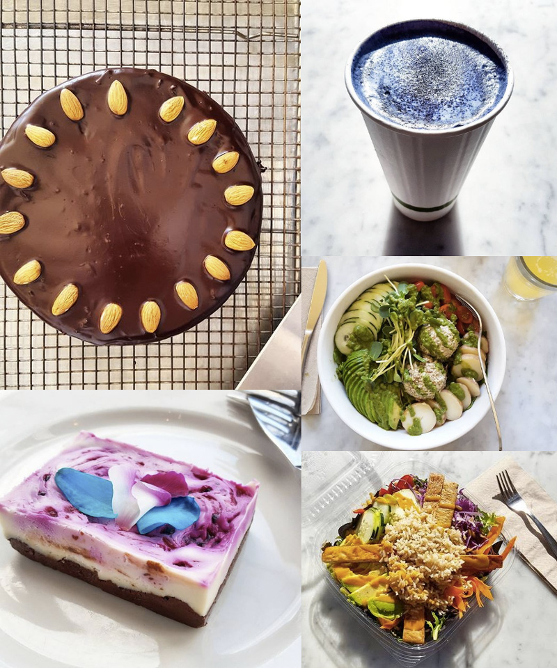Nourish Cafe is a vegan coffee shop, bakery and restaurant with 2 locations in San Francisco. Refined sugar-free + Gluten-free options