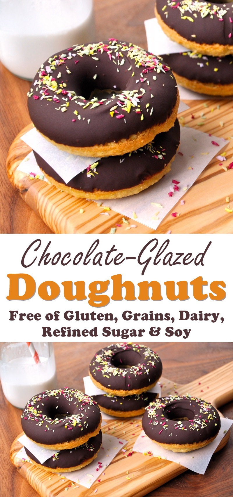 Chocolate-Glazed Doughnuts Recipe from The Recipe Hacker Confidential - Gluten-free, Dairy-free and Paleo!