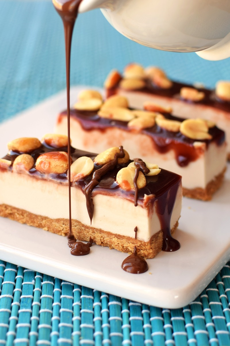 Homemade Snickers Ice Cream Cookie Bars Recipe - vegan, dairy-free, gluten-free and soy-free!