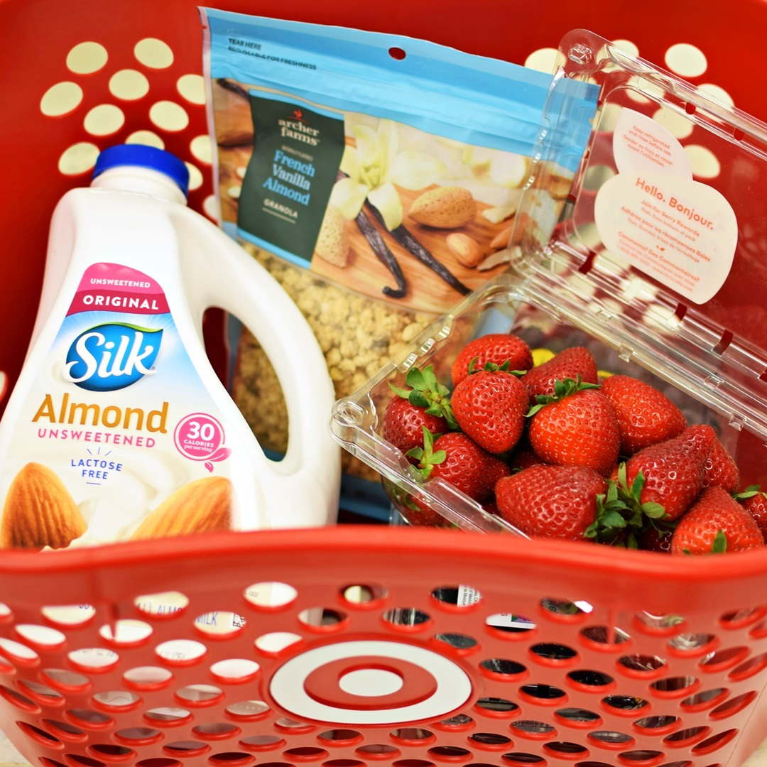 Triple Berry Crisp Smoothie Parfait Recipe - dairy-free, plant-based ingredients