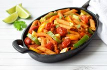 Fully-loaded Veggie Fajita Pasta Recipe - Naturally plant-based, dairy-free, gluten-free, vegan and allergy-friendly